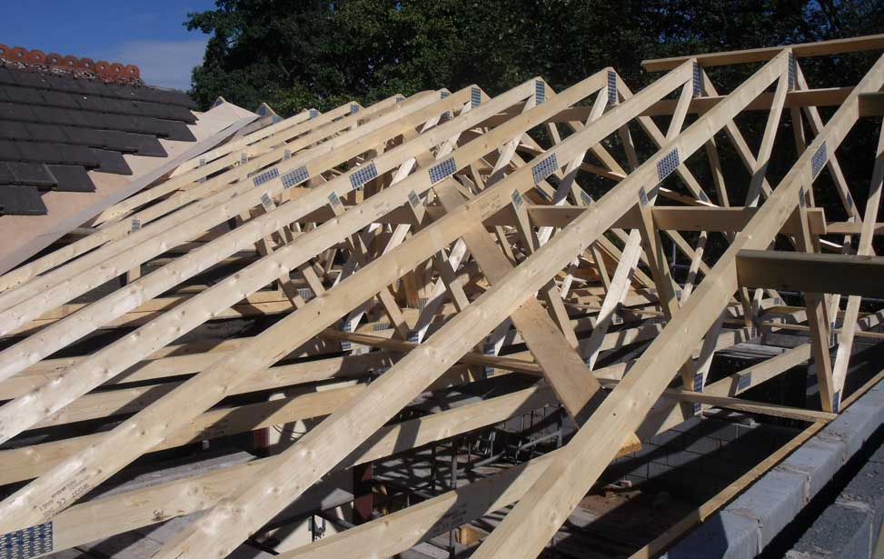 Roof trusses plan it upvc building supplies ltd for Cost to install trusses